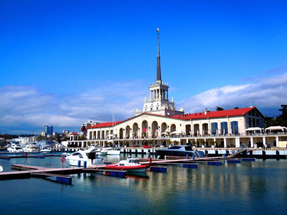 Здание Морского вокзала Сочи