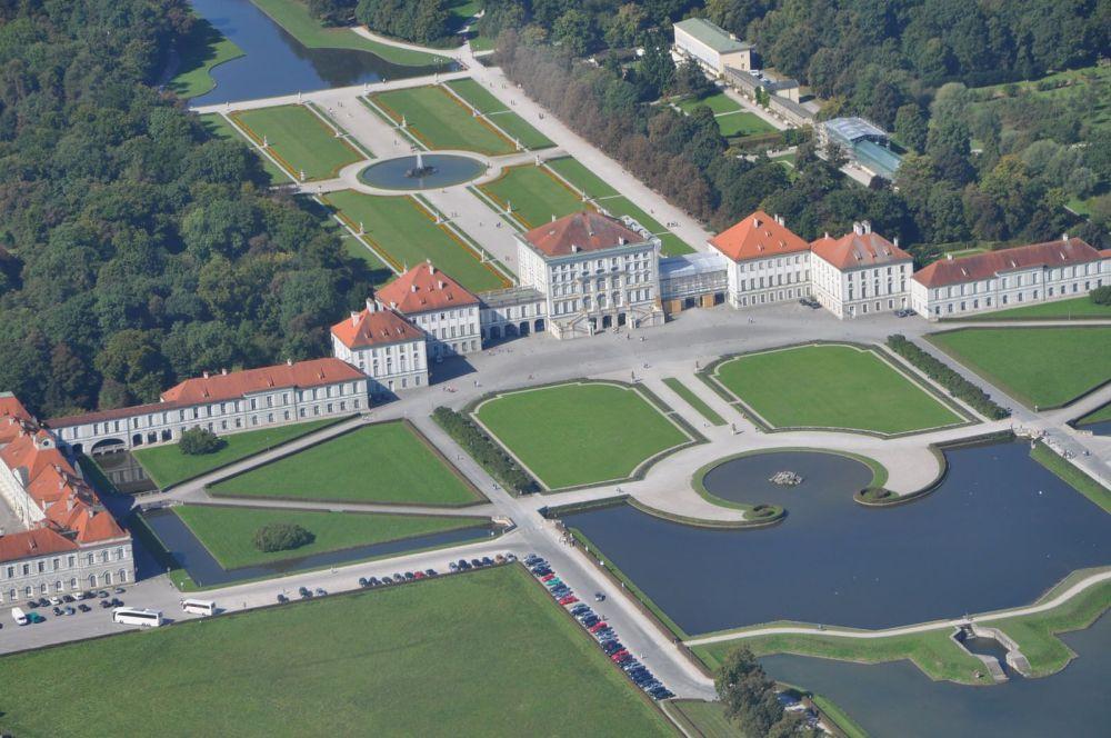 Дворец Нимфенбург, вид с высоты