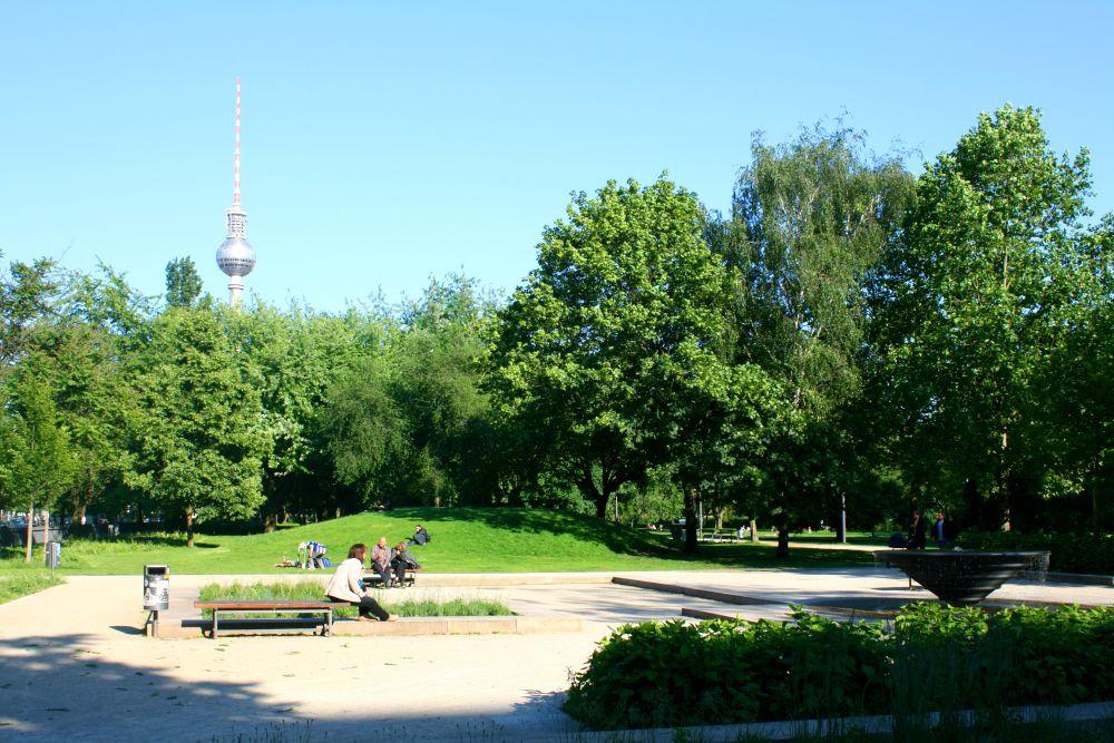 Парк Монбижу на месте дворца